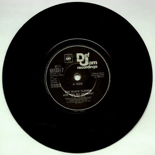 The very rare Black Flames 7 inch single with Glenn Danzig B-side. Image courtesy <a href='http://www.misfitscollectors.com'>MisfitsCollectors.com</a>.
